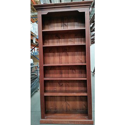 Stained Pine Bookcase