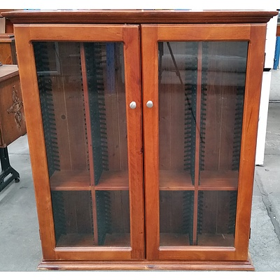 Stained Pine DVD Cabinet