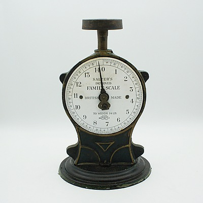 Vintage British Salter's Improved Family Scale