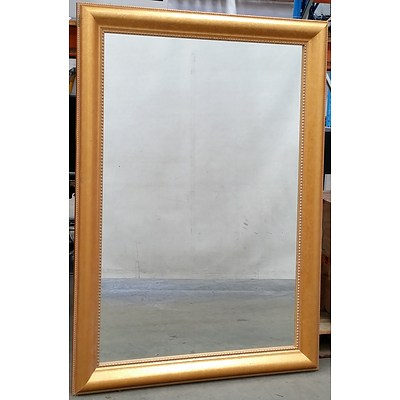 Large Contemporary Gold Painted Mirror