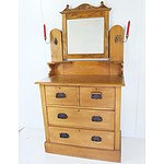 Pine Dressing Table Early 20th Century