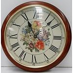 Maple Framed Wall Clock