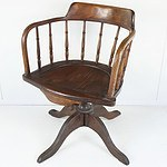 Vintage Oak Captains Chair