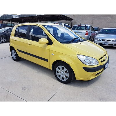 7/2007 Hyundai Getz SX TB UPGRADE 5d Hatchback Yellow 1.6L
