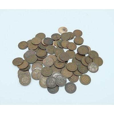 Ninety Three Australian Half Pennies