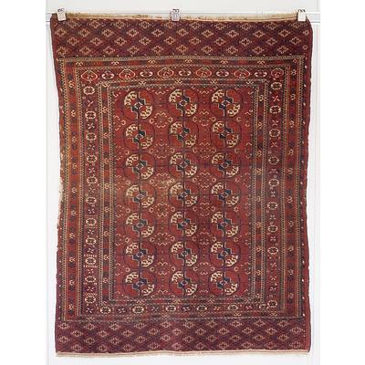 Antique Turkmen Tekke Gul Rug