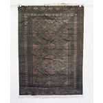 Green Ground Bokhara Hand Knotted Wool Pile Rug Probably Pakistan