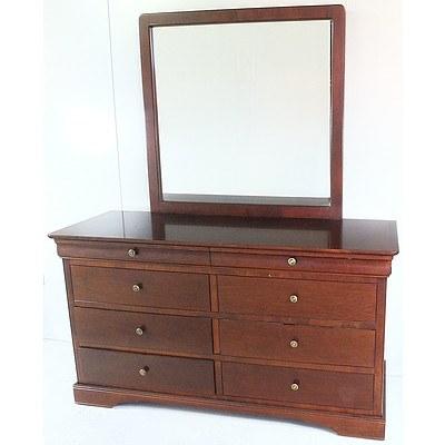 Contemporary Mahogany Dresser