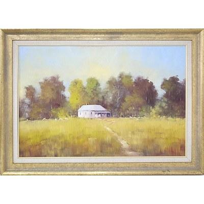 Sandra House (1942-) Spalding Street Flynn Oil on Board