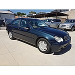 7/2002 Mercedes-Benz C180 Kompressor Classic W203 4d Sedan Blue 1.8L