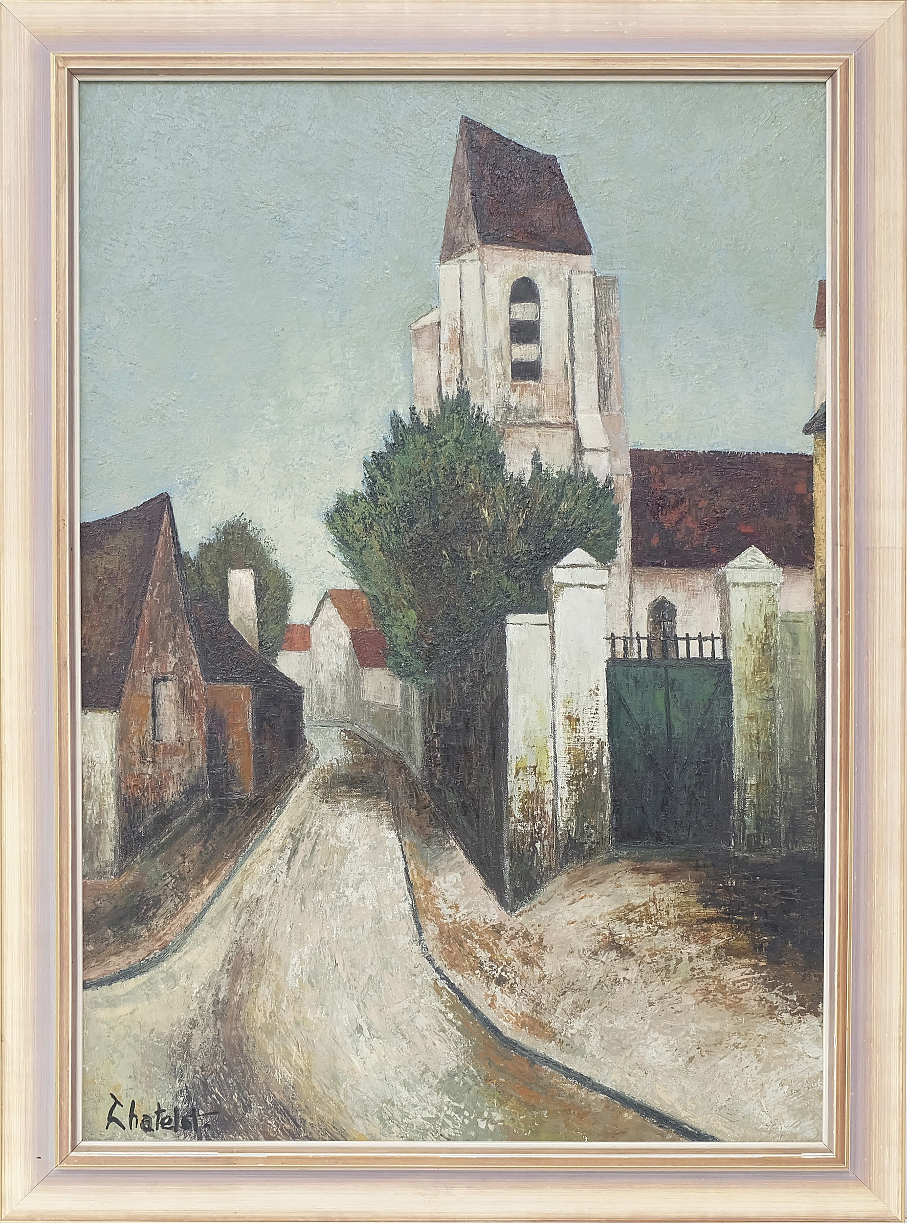 'Ronald W. Chatelot (1922-) Le Presbytere Oil on Canvas'