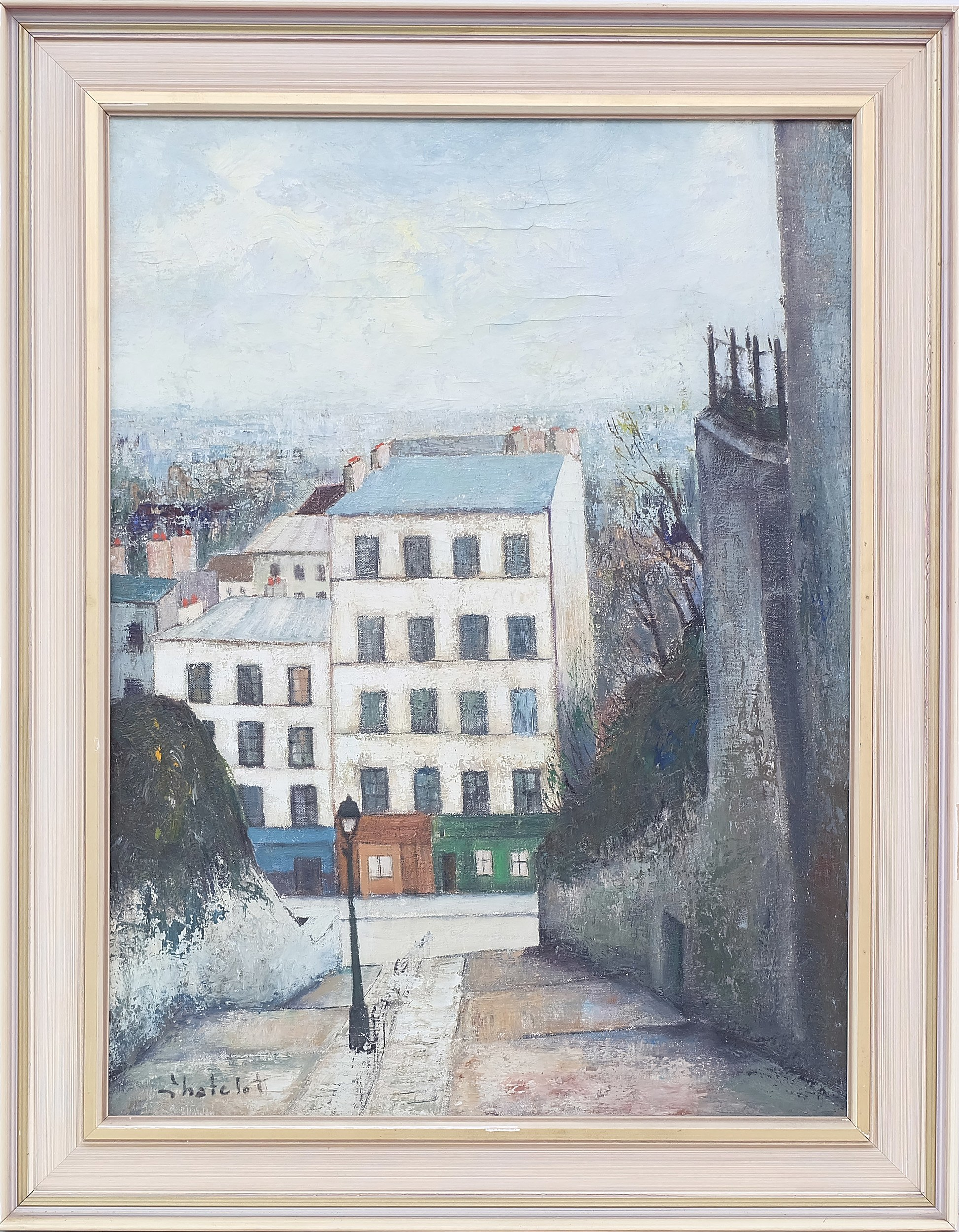 'Ronald W. Chatelot (1922-) Rue Du Calosire Oil on Canvas'