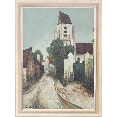 Ronald W. Chatelot (1922-) Le Presbytere Oil on Canvas