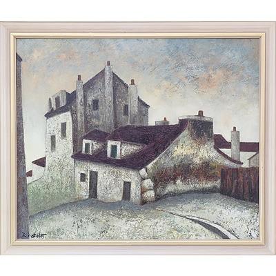 Ronald W. Chatelot (1922-) Maison Mimi Pinsory Oil on Canvas