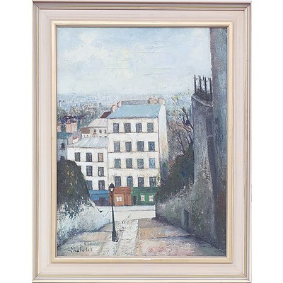 Ronald W. Chatelot (1922-) Rue Du Calosire Oil on Canvas