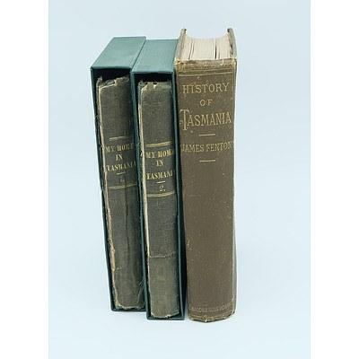 Three Antique Tasmania Bound Books