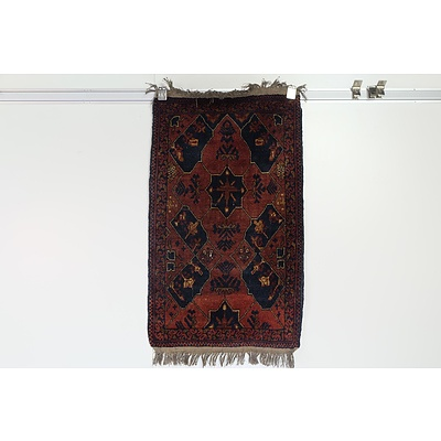 Eastern Hand Knotted Wool Pile Mat