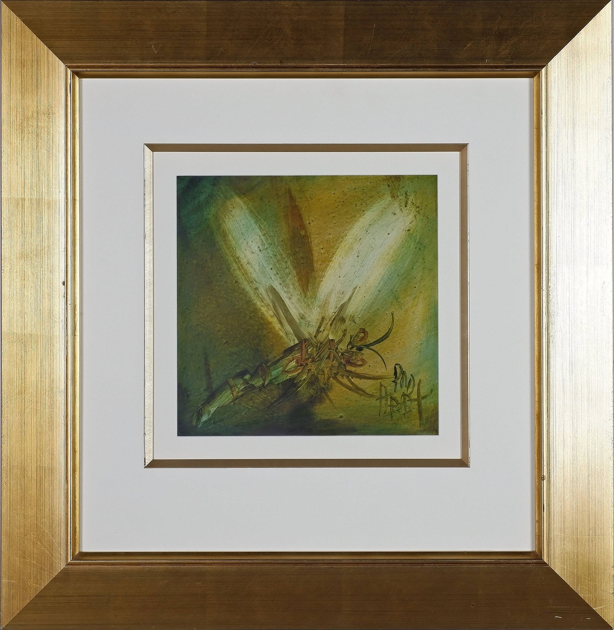 'Pro Hart (1928-2006) Dragon Fly No 4 Oil on Board'
