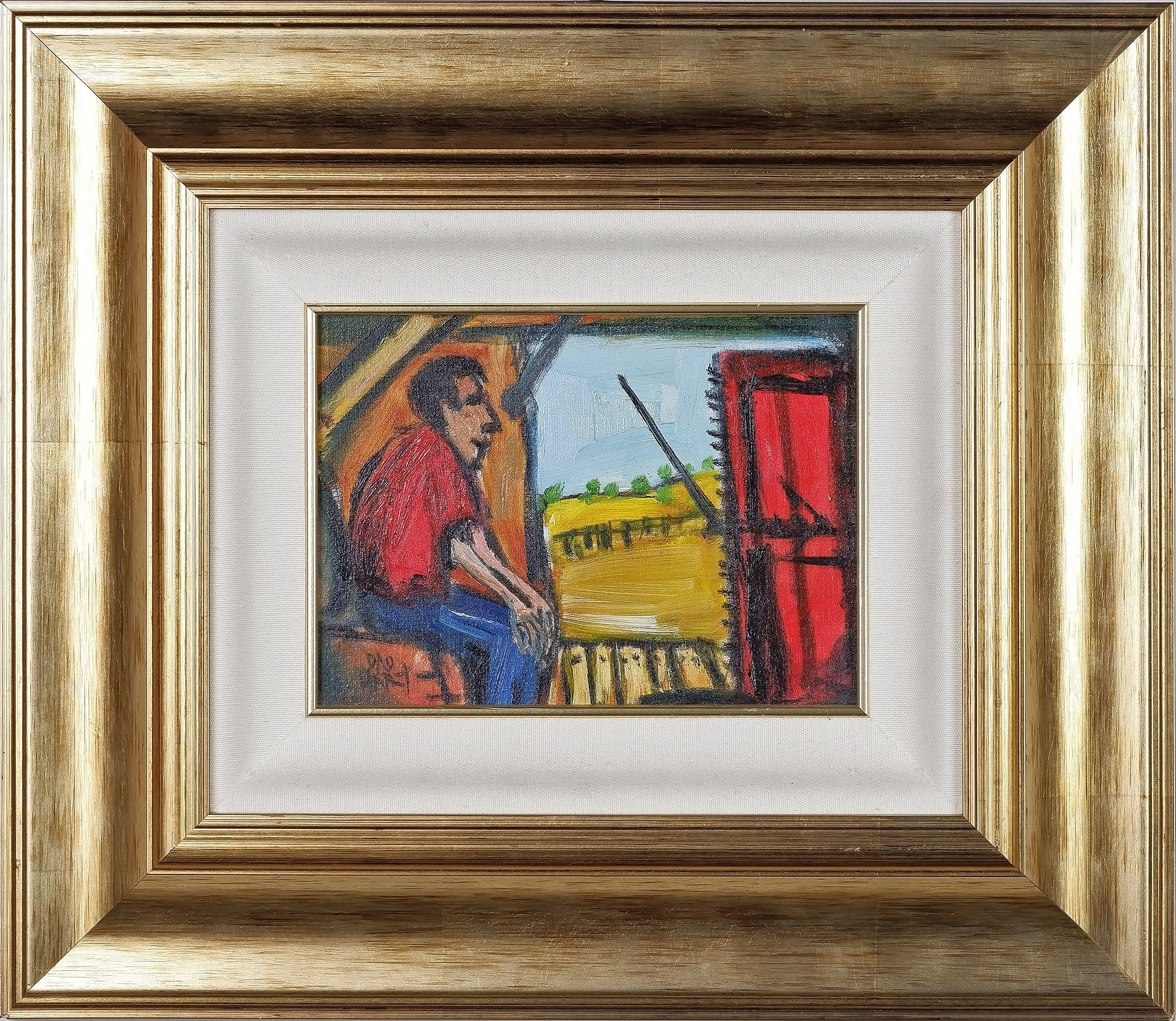 'Pro Hart (1928-2006) The Wool Press Oil on Board'