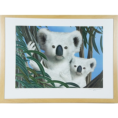 Two Signed Limited Edition Prints Including Koala Gum Leaves