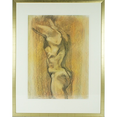 Linda Robertson (Working 1997-) Male Nude 2005 Charcoal and Wash