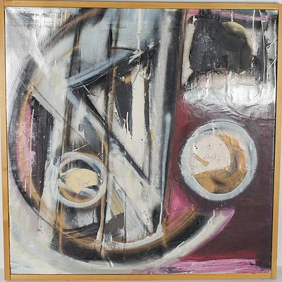 Large Abstract Mixed Media Artwork