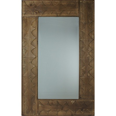 Contemporary Bevelled Glass Mirror