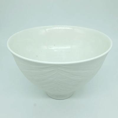 Malcolm Lindsay Cooke (1951-) High Relief Carved Porcelain Bowl