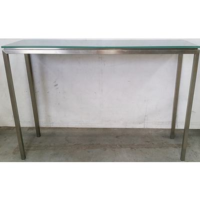 Glass Topped Hall Table