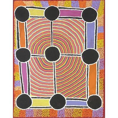 Alma Nangala Robertson (Yuendumu 1969-) Completed Oil on Canvas