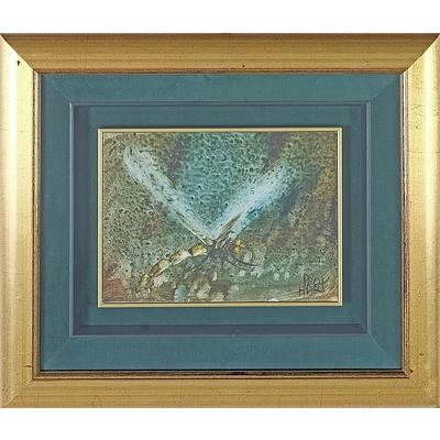 Pro Hart (1928-2006) Dragonfly Oil on Board