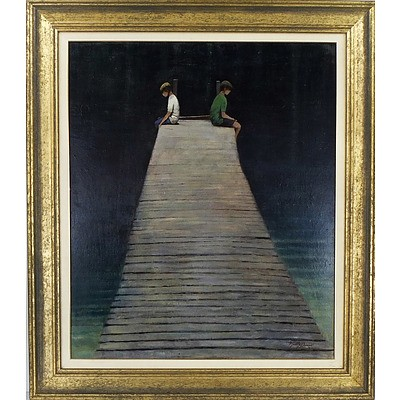 Neville Connor (1939-) The Jetty Acrylic on Board