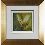 Pro Hart (1928-2006) Dragon Fly No 4 Oil on Board