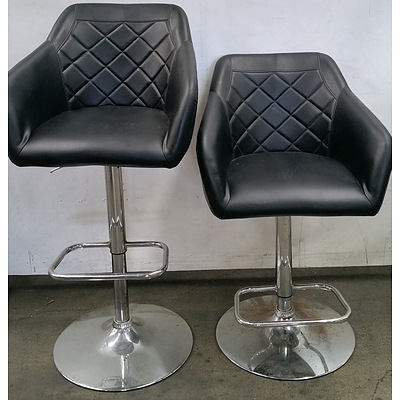 Swivel Bar Chairs - Lot of Two