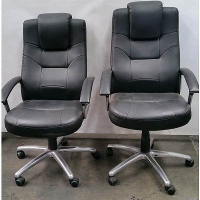 Highback Gaslift Chairs - Lot of Two