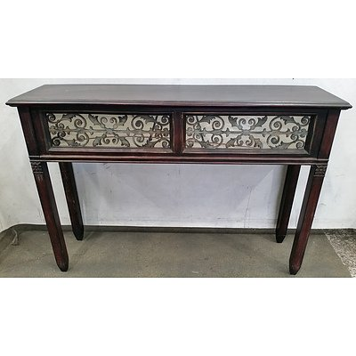 Console Table With Mirrored Front