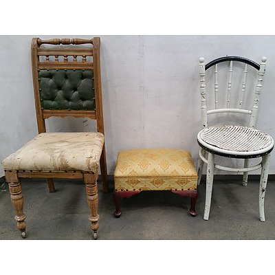 Antique and Vintage Furniture - Lot of Three