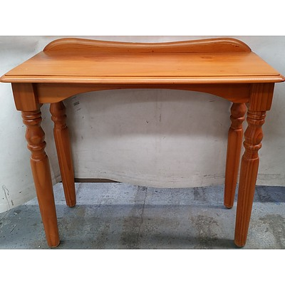 Stained Pine Hall Table