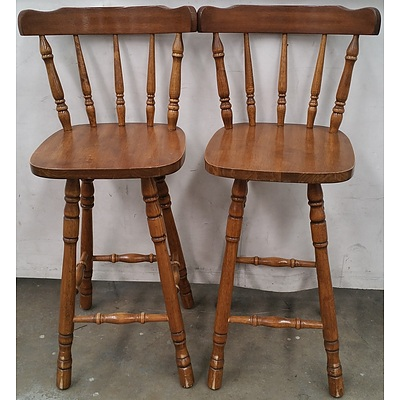 Maple Bar Chairs - Lot of Two
