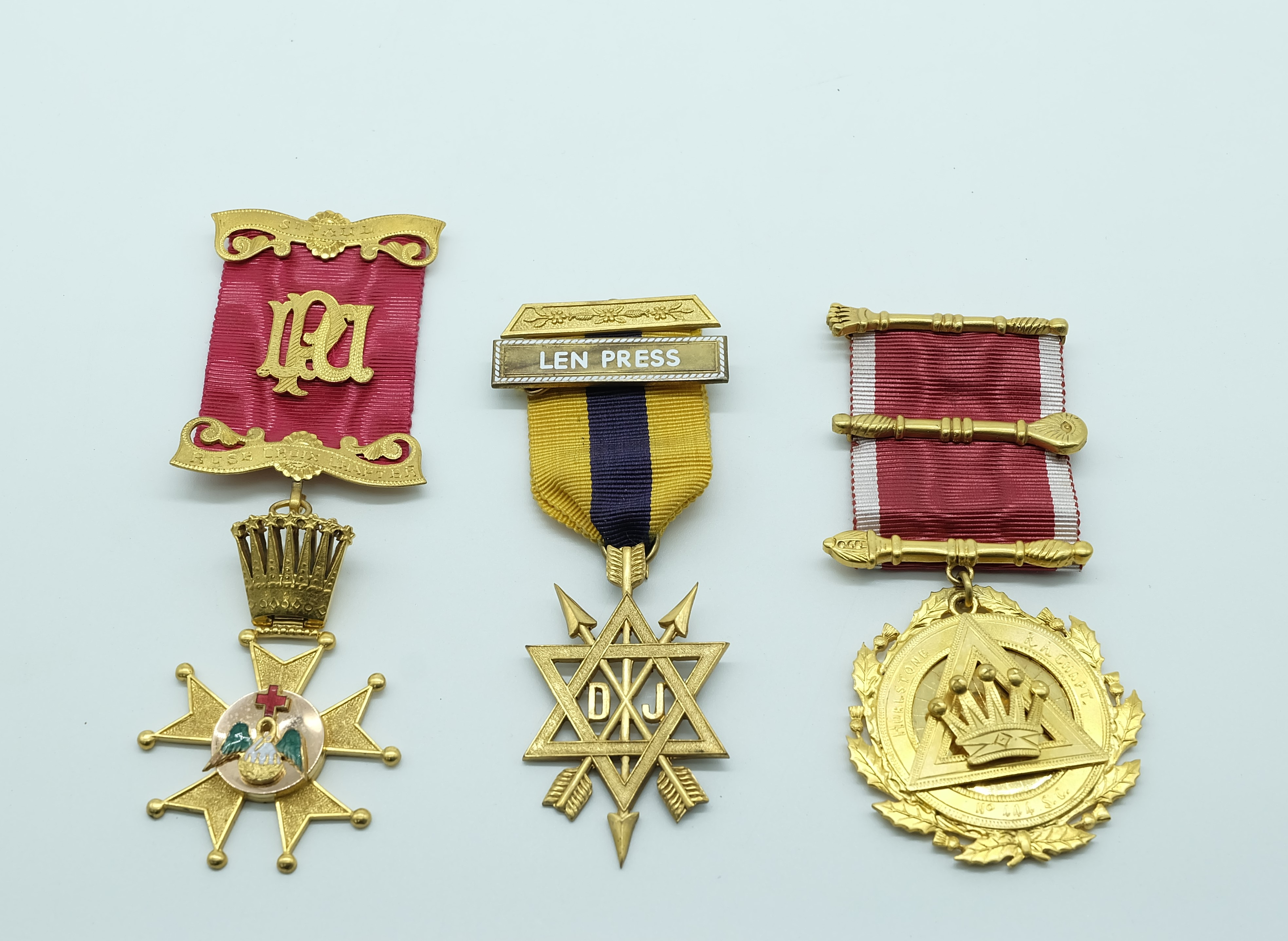 Three Masonic Medals