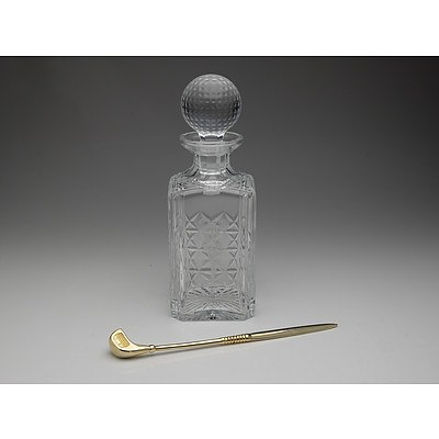 Stuart Crystal Golf Themed Clubhouse Collection Decanter