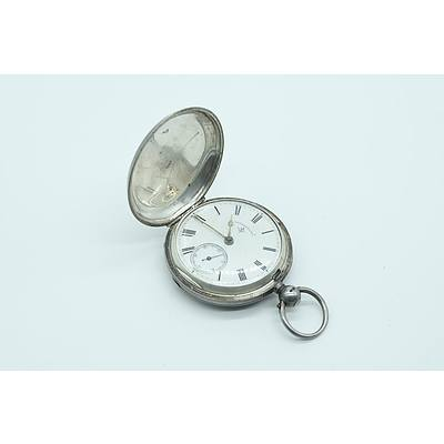 Sterling Silver Cased Rotherhams Pocket Watch, Birmingham John Rotherhams and Sons 1889