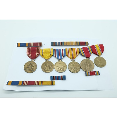 Group of American Second World War Medals, Ribbon Bars and Miniatures