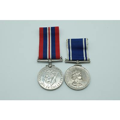 Police Long Service Medal and a 1939-1945 War Medal