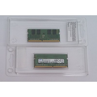 Samsung (1Rx8 PC4-2133P-SA0-10) 4GB DDR4 Laptop RAM Module - Lot of Two *BRAND NEW