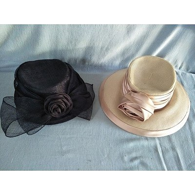 2 x ladies dress hats by Australian Designers