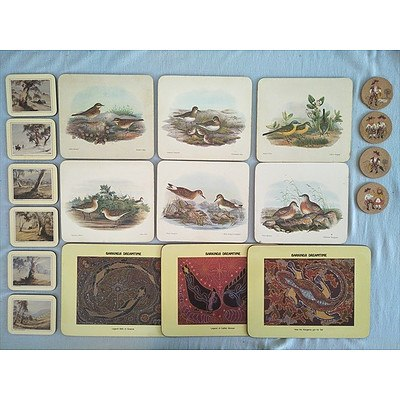 Assorted placemats and coasters
