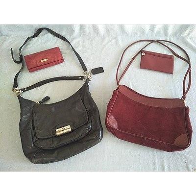 2 Handbags & 2 purses