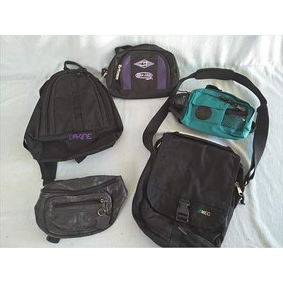 Assorted leisure bags (backpack tote bumbags)