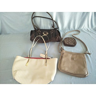 Assorted handbags including Hush Puppies shoulder bag